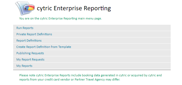 cytric enterprise reporting